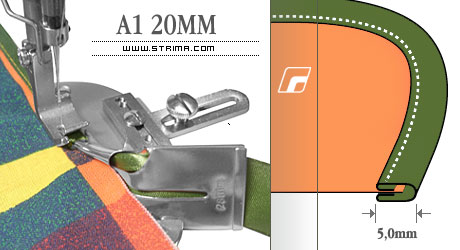 Dispozitiv dublu intors 20mm